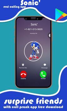 Call from Sonic Exe prank simulator screenshot 1
