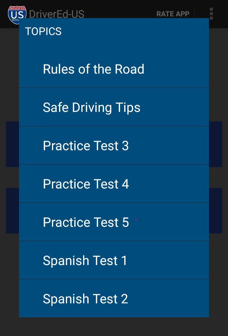 mva driving practice test in spanish