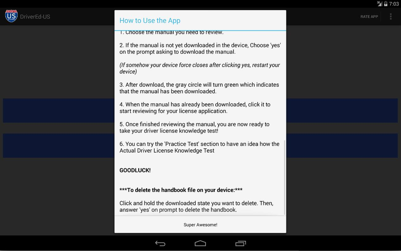 ... Colorado DMV Reviewer apk screenshot ...