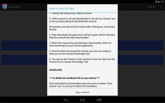 Hawaii DOT Reviewer apk screenshot