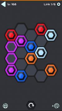 Hexa Star Link - Puzzle Game syot layar 1
