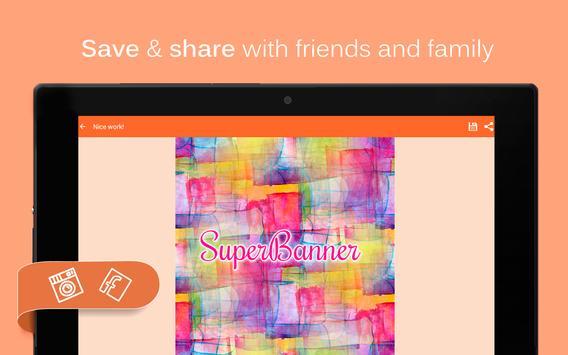 SuperBanner - Text Banners apk screenshot