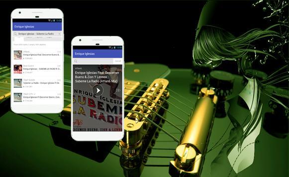 Enrique Iglesias Subeme La Radio Letras de Cancion apk screenshot