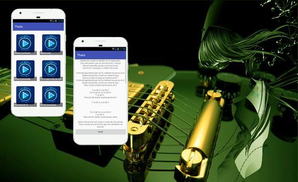 Thalia Desde Esa Noche Letras de Canciones apk screenshot
