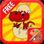 Dinosaur Egg Coloring icon