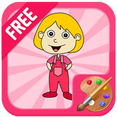 Girl Coloring Game icon
