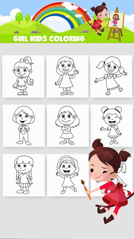 Chica para colorear juego Descarga APK - Gratis Educativos Juego ...