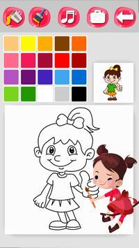 Girl Coloring Game screenshot 2