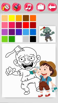 Zombie Coloring Game screenshot 4