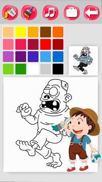 Zombie Coloring Game screenshot 2