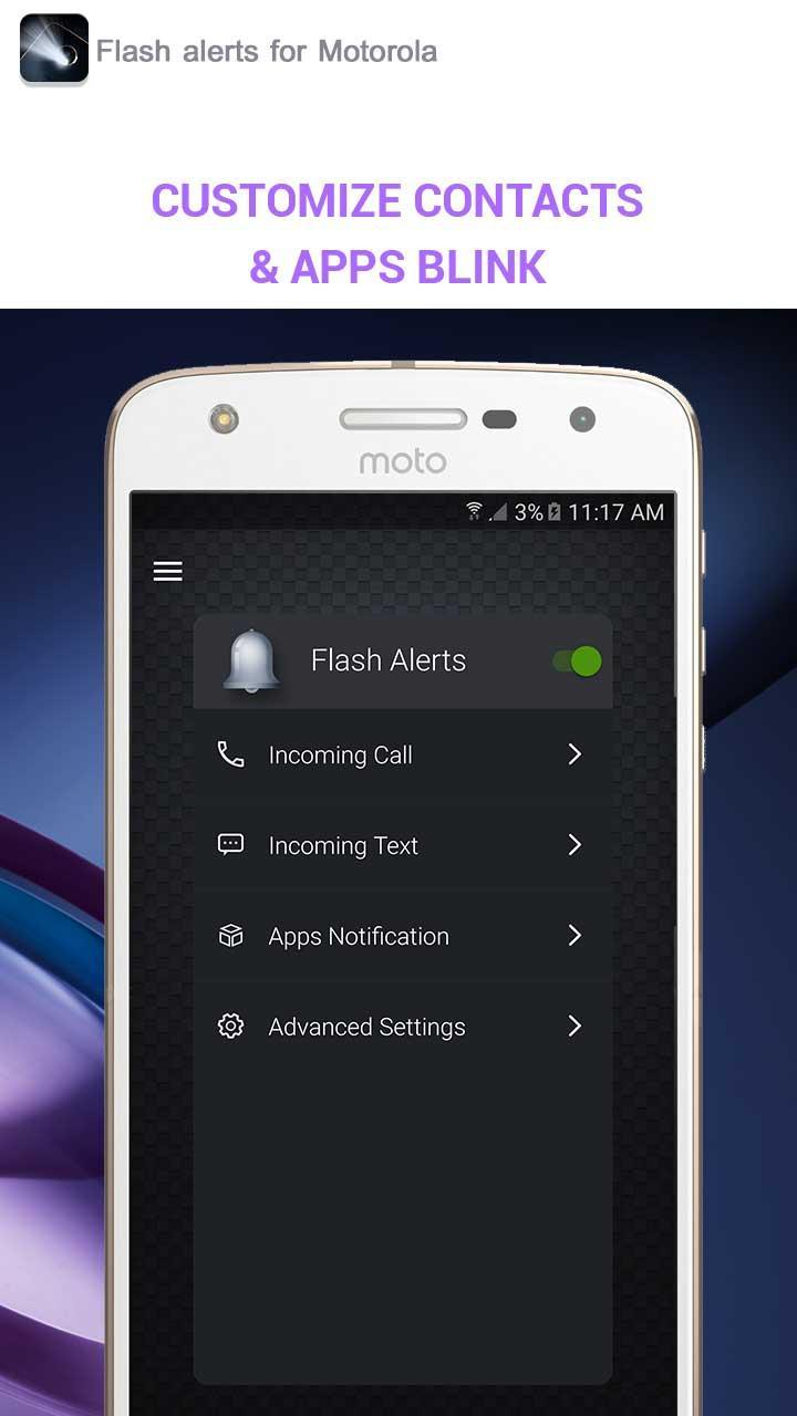 Flash alerts for Motorola for Android - APK Download