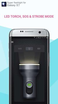 Super flashlight for Galaxy S7 poster