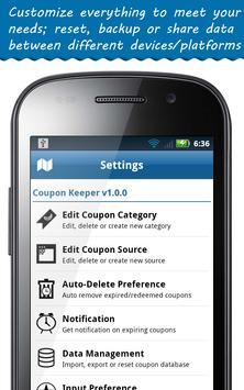 Coupon Keeper apk screenshot