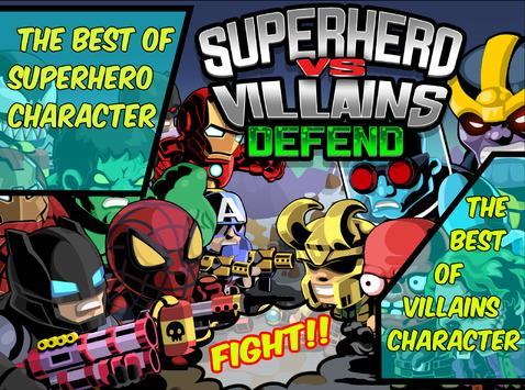 SuperHero VS Villains Defense poster