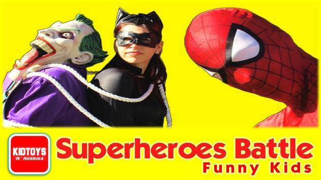 Superheroes Battle Funny Kids poster