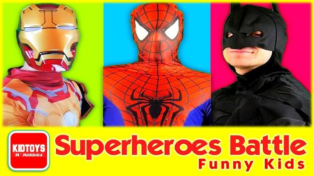 Superheroes Battle Funny Kids screenshot 1