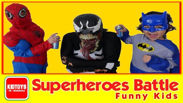 Superheroes Battle Funny Kids screenshot 2