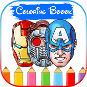 SuperHeroes Coloring Book icon