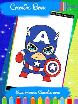 SuperHeroes Coloring Book apk screenshot