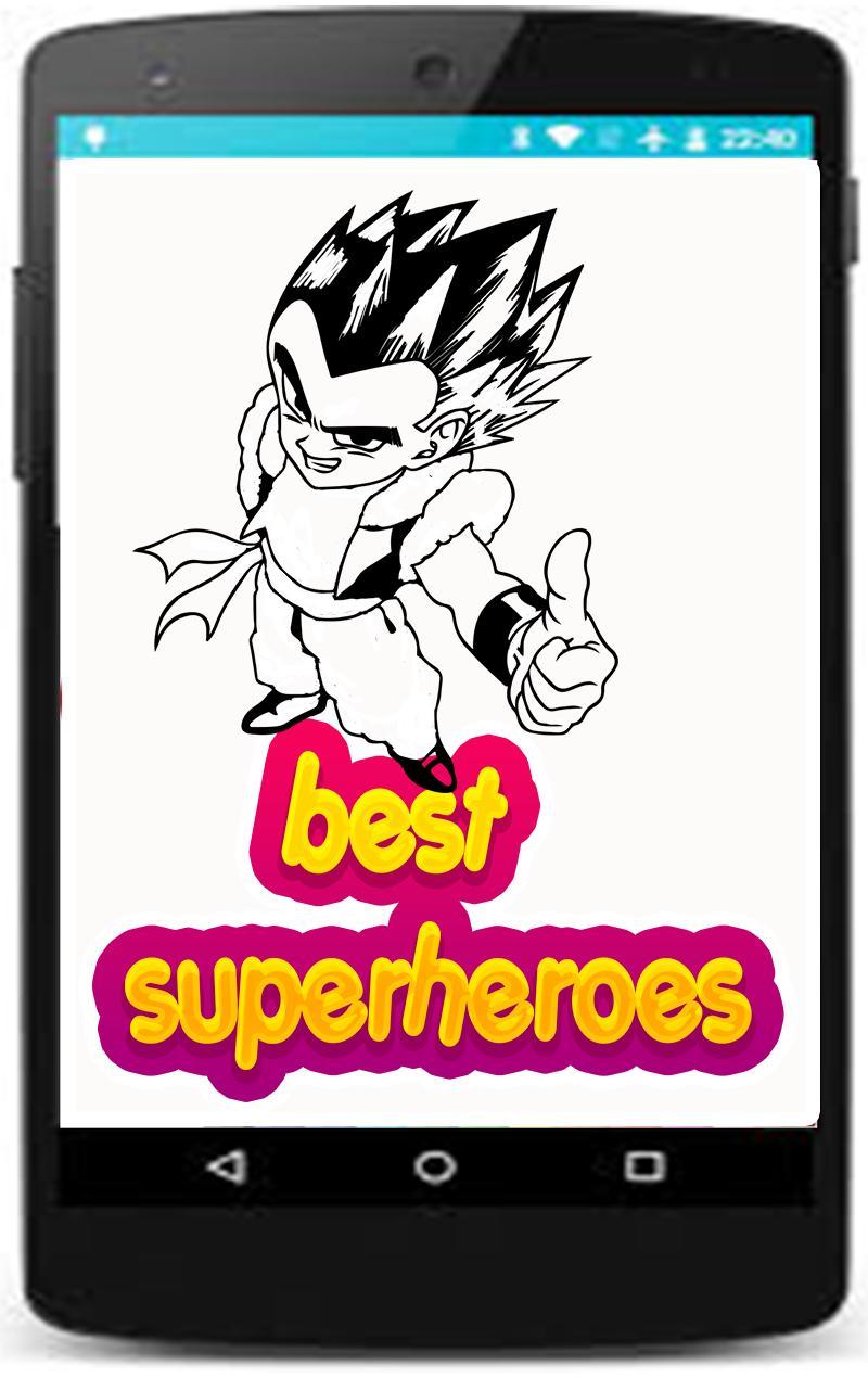 Superhelden Malvorlagen Spiele Für Kinder Für Android Apk