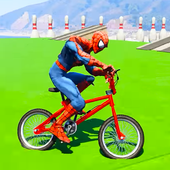 Superheroes Fast BMX Racing Challenges icon
