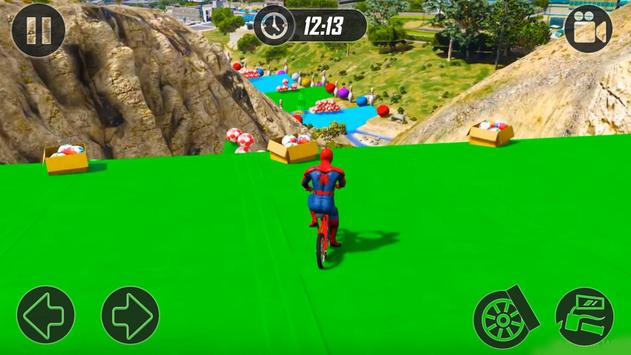 Superheroes Fast BMX Racing Challenges screenshot 11