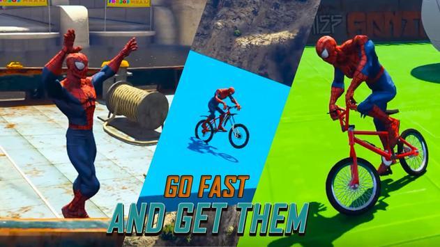 Superheroes Fast BMX Racing Challenges screenshot 7
