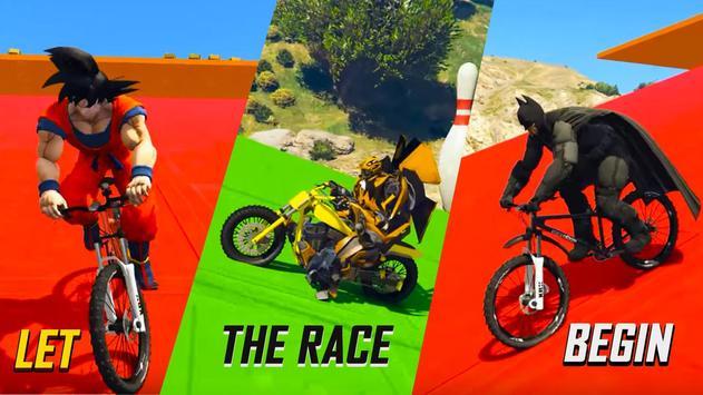Superheroes Fast BMX Racing Challenges screenshot 4