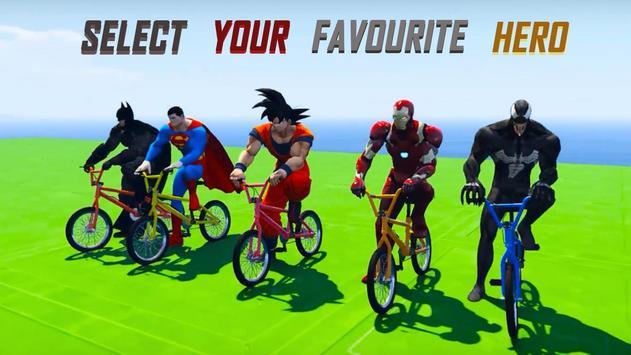 Superheroes Fast BMX Racing Challenges screenshot 6