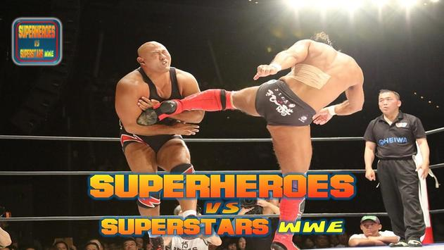 Superheroes VS Superstars WWE poster