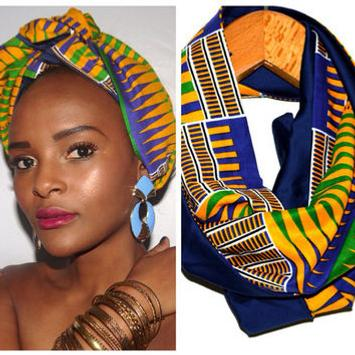 African Print Scarf poster
