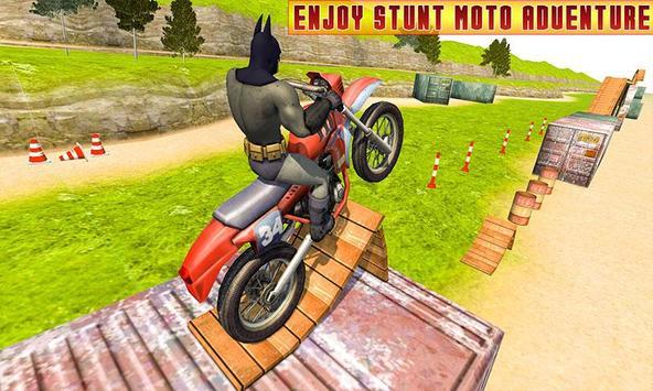 Superhero Bike Racing Mania : Extreme Stunts Rider screenshot 4