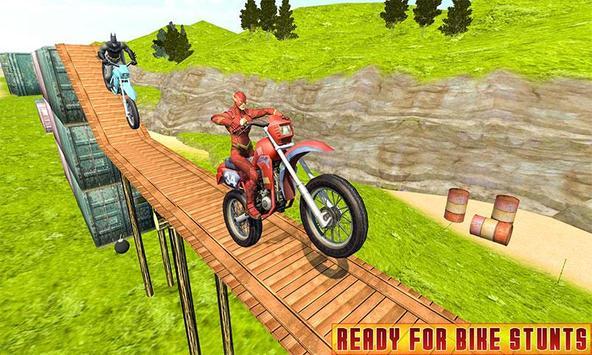 Superhero Bike Racing Mania : Extreme Stunts Rider screenshot 5