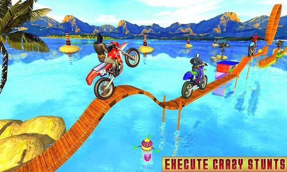 Superhero Bike Racing Mania : Extreme Stunts Rider poster