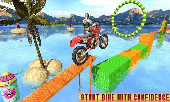 Superhero Bike Racing Mania : Extreme Stunts Rider screenshot 1