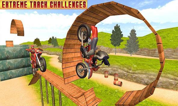 Superhero Bike Racing Mania : Extreme Stunts Rider screenshot 3