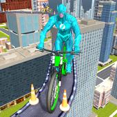 Real Superhero BMX Rider Racing Game icon