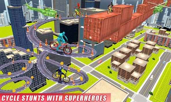 Real Superhero BMX Rider Racing Game poster
