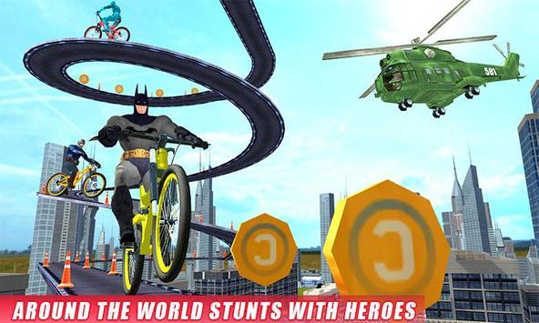 Real Superhero BMX Rider Racing Game screenshot 2