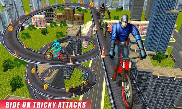 Real Superhero BMX Rider Racing Game screenshot 3