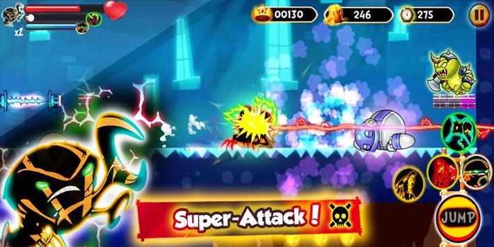 🦀 Hero Ben Brainstorn Alien Fight Ultimate screenshot 2