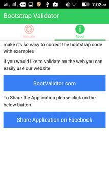 Bootstrap Validator apk screenshot