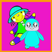 Cute Doll Coloring Book icon