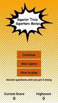 Superhero Movie Trivia poster