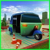 City Tuk Tuk Rickshaw Parking icon