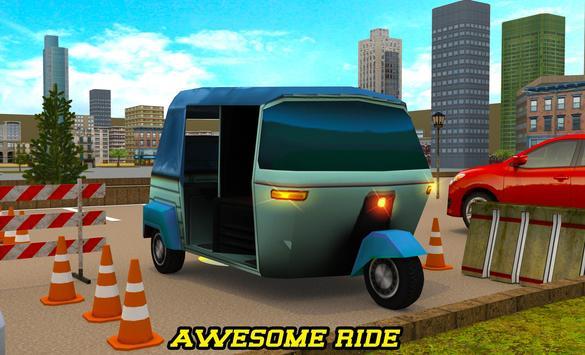 City Tuk Tuk Rickshaw Parking screenshot 7