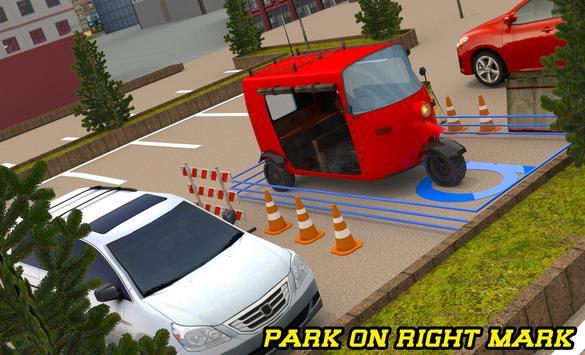 City Tuk Tuk Rickshaw Parking poster
