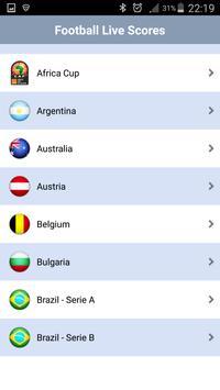Foot ball Live scores apk screenshot