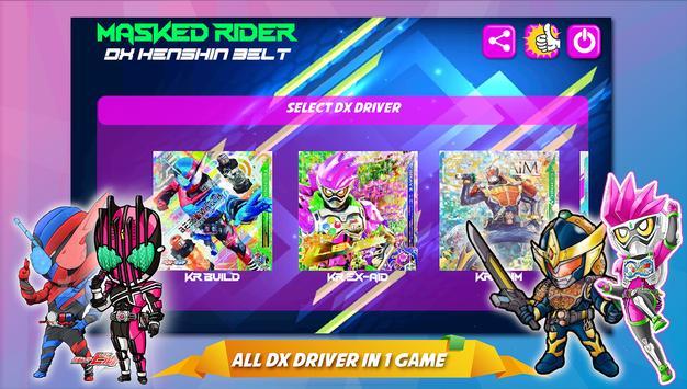 Masked Rider DX : Henshin belt for tokusatsu poster