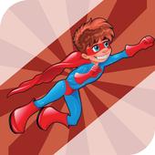 Super Spider Hero Man Flying icon